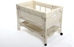 Arms Reach Concepts Mini Co-Sleeper Infant Bedside Bassinet, Euro Mini