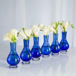 Palace Bud Vases Cobalt Set of 6