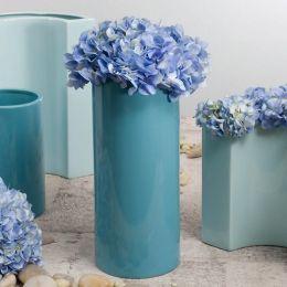 Large Cylinder Vase Cool Blue