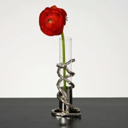 Nickel Branch Bud Vase