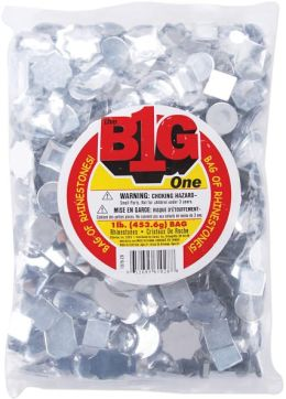 Rhinestone Shapes 1 Pound-Assorted Crystal