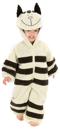 Corduroy Striped Cat Toddler Costume: Size 4