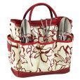 Product Image. Title: Floral Gardening Tote Set with Tools