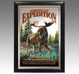 American Expediton MIRR-505 Bull Moose Decorative Wildlife Wall Mirror