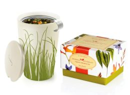 Herbal Retreat Petite Tea Ribbon Box with Spring Grass Kati Cup
