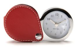 Harrison Sport Red Travel Alarm Clock