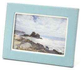 Accent Aqua With White Stitch Frame 4x6