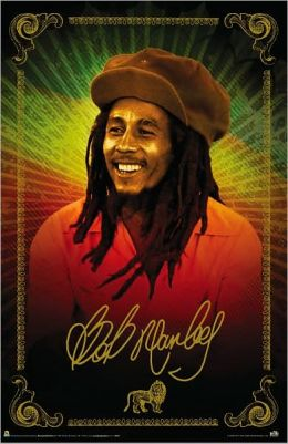 Bob Marley - Color Sitting - Poster.
