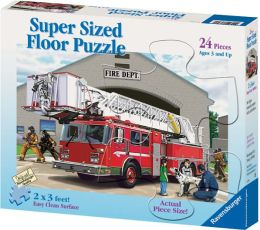 Fire Engine 24 Piece Super Sized Floor Puzzle