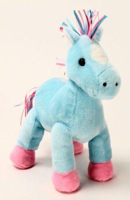 Horse Hoopla 8 Inch Plush, Light Blue