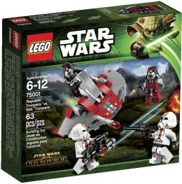 LEGO Star Wars Republic Troopers vs Sith Troope 75001