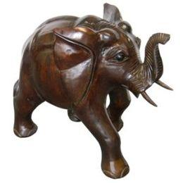 Solid Wood Large Elephant Statue