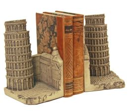 Leaning Tower of Pisa Bookends - Set of 2
