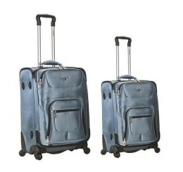 Fox Luggage F172-Navy 2 Piece Spinner Set Rockland