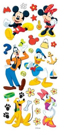 Disney Stickers/Borders Packaged-Mickey & Friends