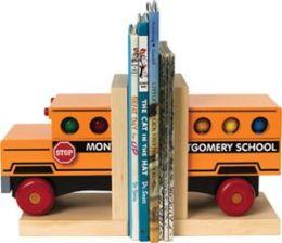 Maple Landmark 70216 MONTGOMERY SCHOOLHOUSE- SCHOOL BUS BOOKENDS