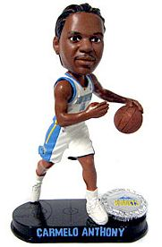 Caseys Distributing 8132939661 Denver Nuggets Carmelo Anthony Forever Collectibles Blatinum Bobble Head