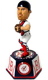 Caseys Distributing 8132940636 Boston Red Sox Jason Varitek Forever Collectibles Bobble Head Clock