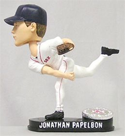 Boston Red Sox Jonathan Papelbon Forever Collectibles Blatinum Bobble Head