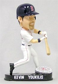 Boston Red Sox Kevin Youkilis Forever Collectibles Blatinum Bobble Head