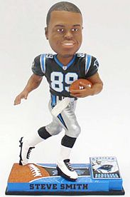 Caseys Distributing 8132963848 Carolina Panthers Steve Smith Forever Collectibles On Field Bobble Head