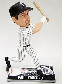 Caseys Distributing 8132968821 Chicago White Sox Paul Konerko Forever Collectibles On Field Bobble Head