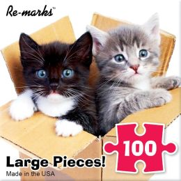 Kittens in a Box 100 Piece Puzzle
