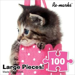 100 Piece Puzzle Cube - Kitten in Purse