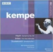 Haydn: Symphony No. 104; Britten: Four Sea Interludes; Shostakovich: Symphony No. 1