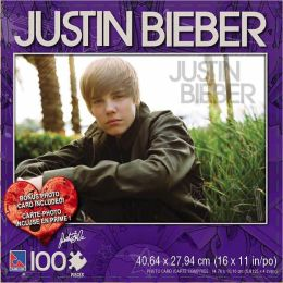 Justin Bieber100 piece puzzle with photo card