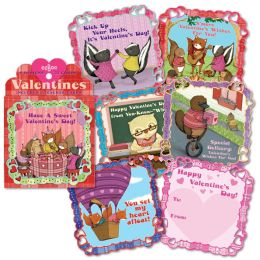 Animal Village Valentine Boxed Cards - Set of 32