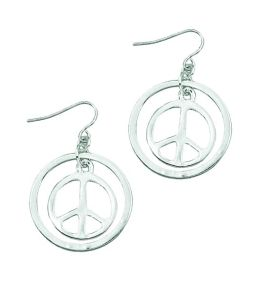Peace with Outer Ring Earrings