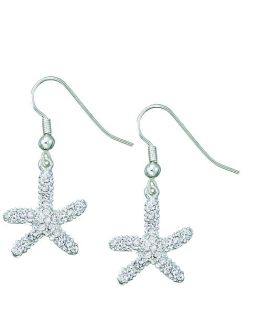 Rhinestone Starfish Earrings