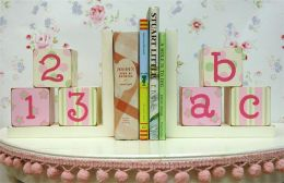 Newarrivals WBE-030 Bookends in Pink and Green