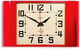 Red Metro Wall Clock