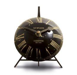 Mini Vex Antique Mantel Clock - Black