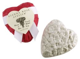 Heart Shaped Soap in Red Toile Tissue
