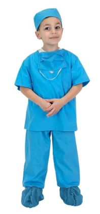 Jr. Doctor Scrubs, size 6/8, Blue