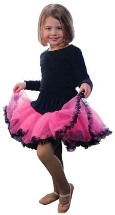 Tutu, Hot Pink/Black, size 4/6