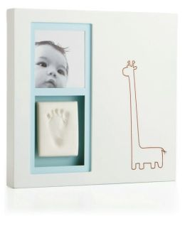 Babyprints Modern Giraffe Wall Frame - White