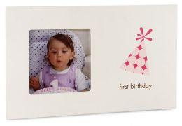 1st Birthday Frame Girl