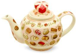 Chocolates Teapot 2 cup, 18 oz (Heart Box Lid)