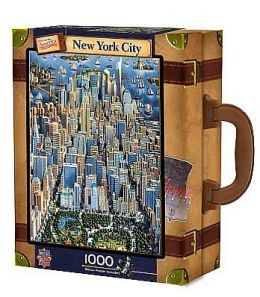 NEW YORK- Dowdle Luggage 1000 pc Jigsaw Puzzle
