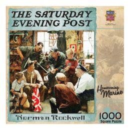 Saturday Evening Post Homecoming Marine 1000 Piece Puzzle