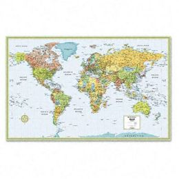 Advantus RM528959948 M-Series Full-Color Laminated World Wall Map 50 x 32