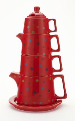 Polka Dot Tea Tower, 8 oz