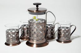 Coffee & Tea Press Gift Set, Copper