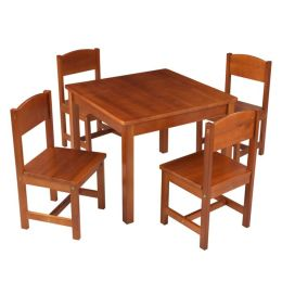 Farmhouse Table and 4 Chairs - Pecan