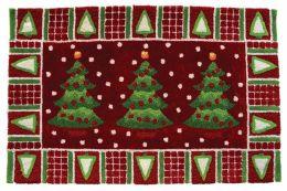 Accents Seasonal Three Trees In Snow Novelty Rectangular Rug