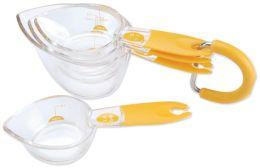 Scoop-It Measuring Cups-Yellow Handle